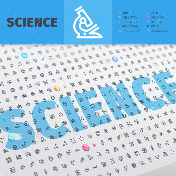 Science Line Icons Bundle