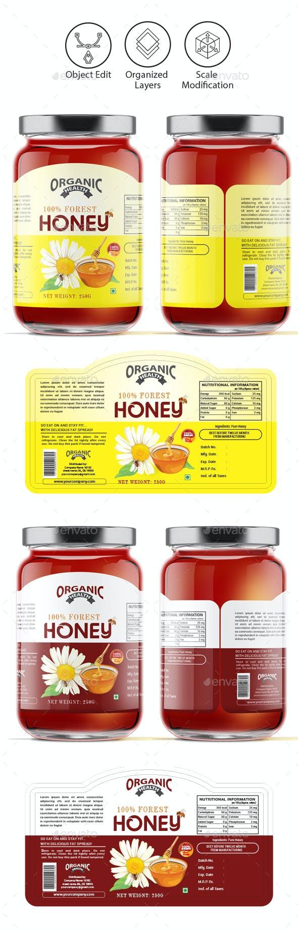 Honey Label Template Vol-1