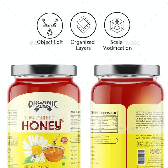 Honey Label Template Vol-1