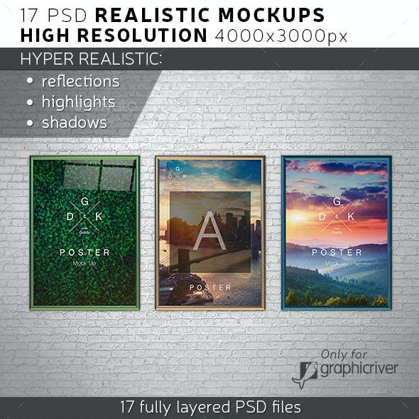 Realistic Poster Mock-ups