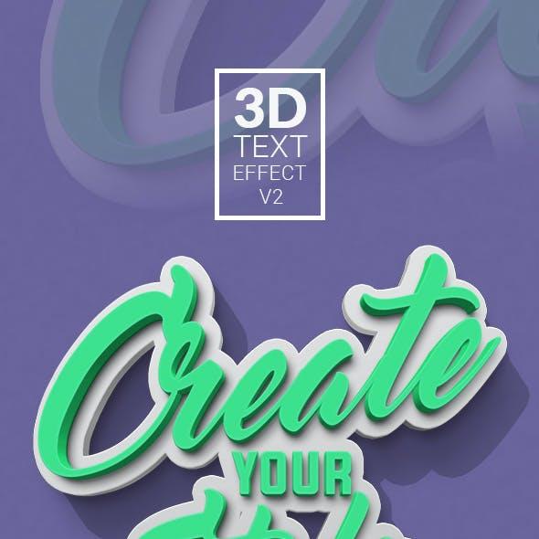 3D Text Effect V2