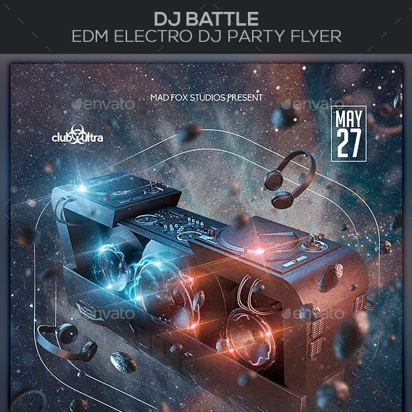 Dj Battle EDM Electro Dj Party Flyer