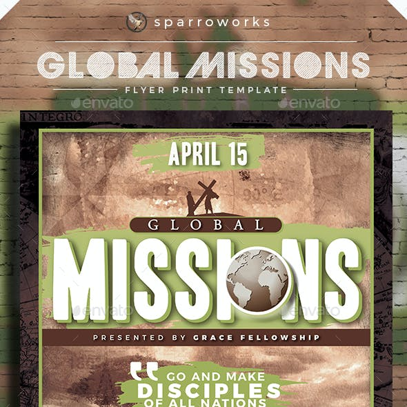 Global Missions Flyer Template