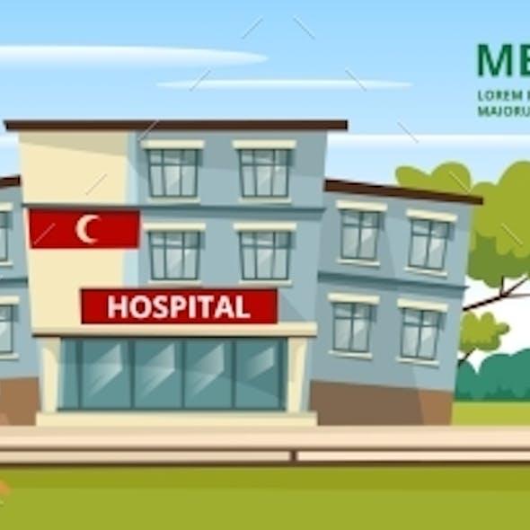 Vector Cartoon Muslim Arab Med Service Template