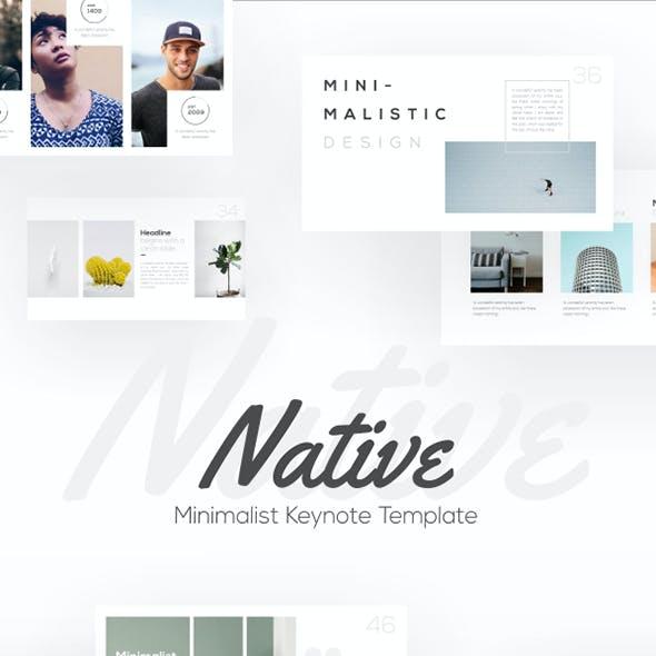 Native Minimalist Keynote Presentation Template