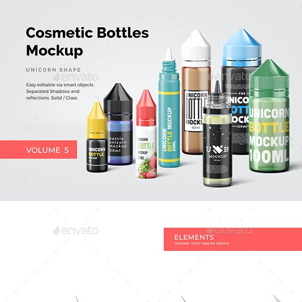 Cosmetic Bottles Mockup Vol.5