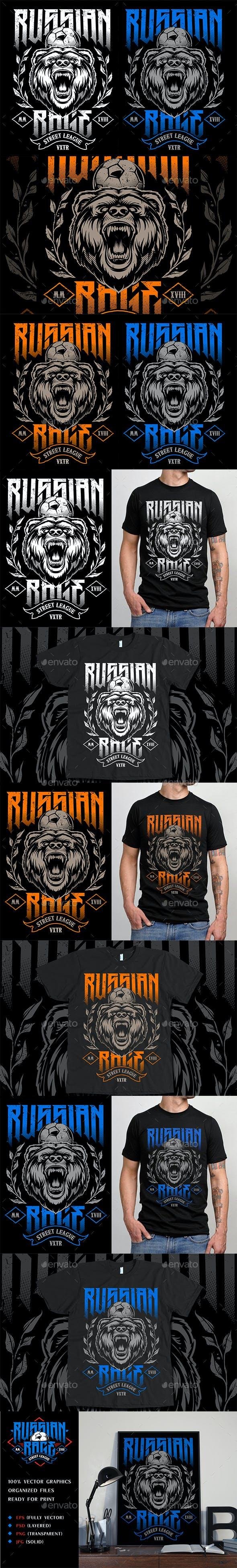 Russian Rage Vector Print