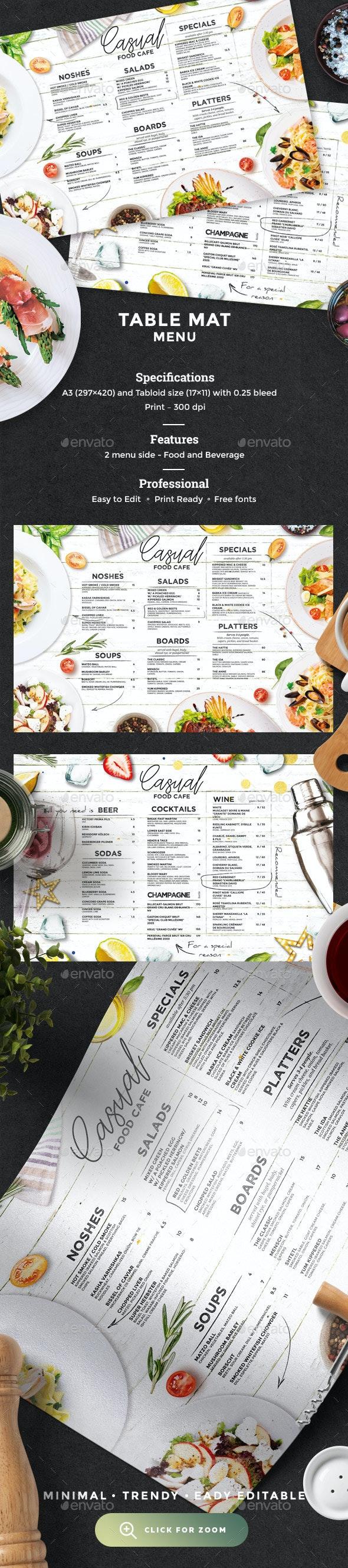 Cafe Menu - Food Menus Print Templates