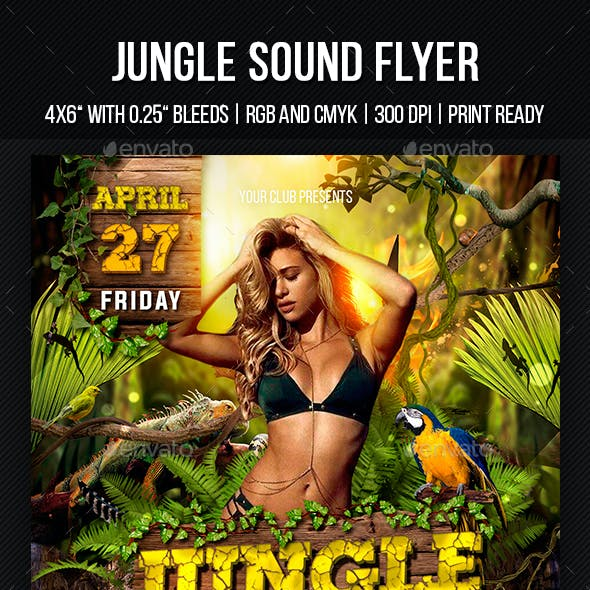 Jungle Sound Party Template