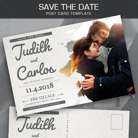 Save the Date Post Card