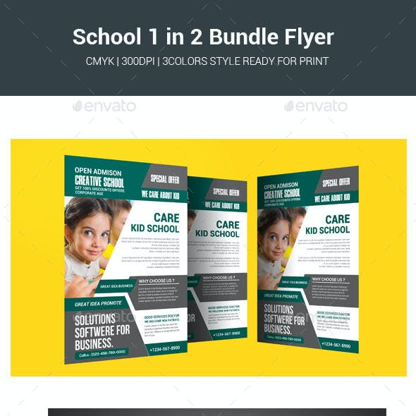 School 1 in 2 Bundle  Flyer