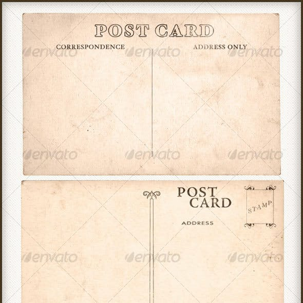 ISOLATED VINTAGE POSTCARD PACK