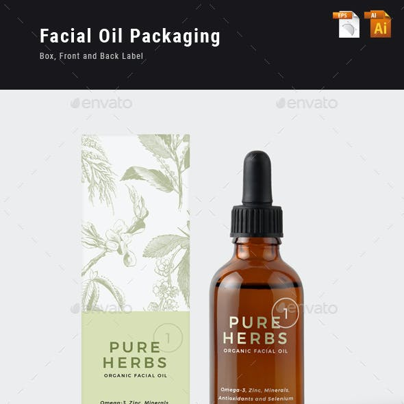 Organic Facial Oil Packaging