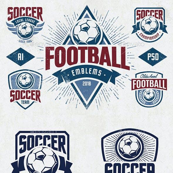 Vector Football Emblems