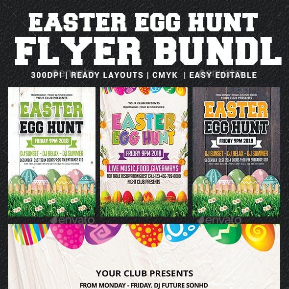 Easter Egg Hunt Flyer Bundle Template