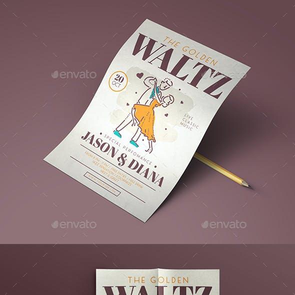 Waltz Dance Flyer