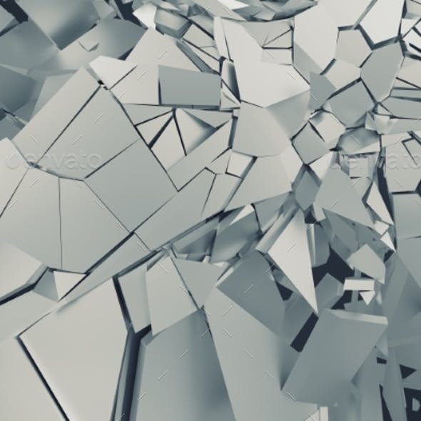 Abstract 3D Rendering of Cracked Surface.