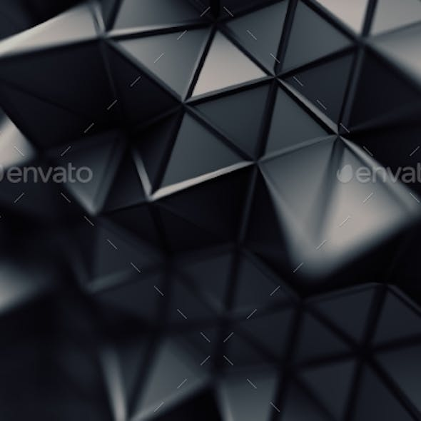 Abstract 3D Rendering. Polygonal Background.
