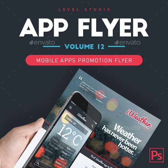 Mobile App Flyers Template 12