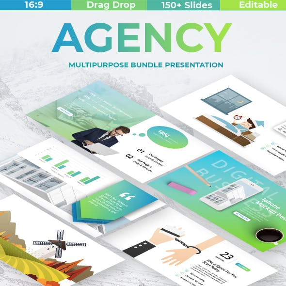 Agency Digital Business Powerpoint Template