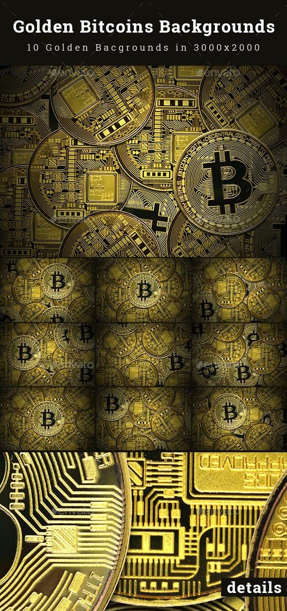 Golden Bitcoins Backgrounds