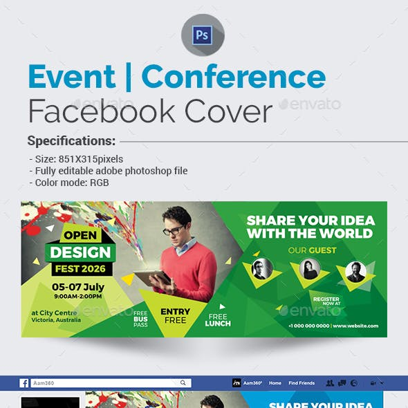 Event/Conference Facebook Cover