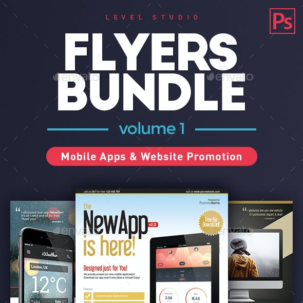 Bundle Flyers App & Web Promo (vol. 1)