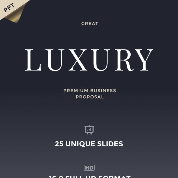 Great Luxury Premium Business Proposal - PowerPoint Template