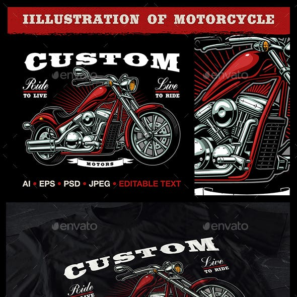 Motorcycle Vector Design