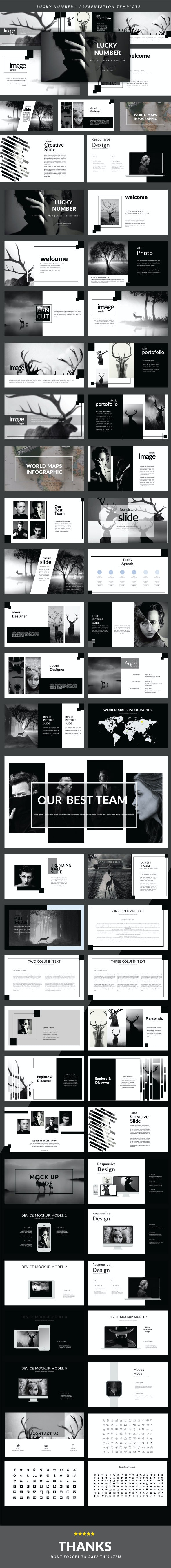 Lucky Number Presentation Templates - PowerPoint Templates Presentation Templates