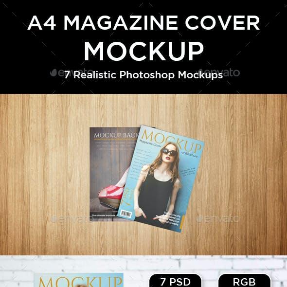 Magazine and Brochure Cover Mockup