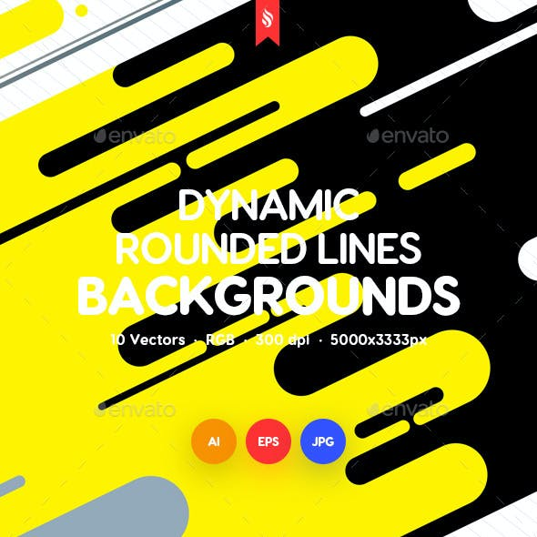Dynamic Rounded Lines Backgrounds
