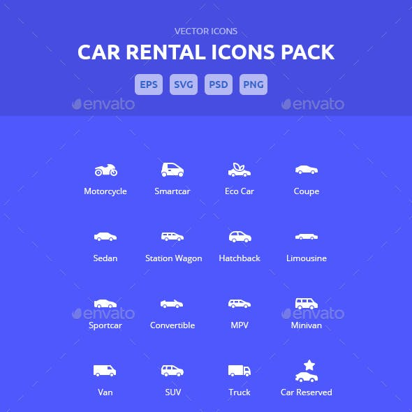 Car Rental Icons