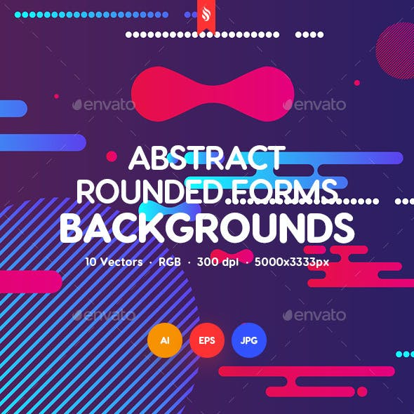 Abstract Rounded Forms Backgrounds