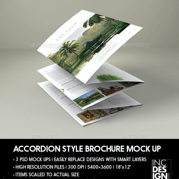 Elegant Accordion Style Brochure Mock Up