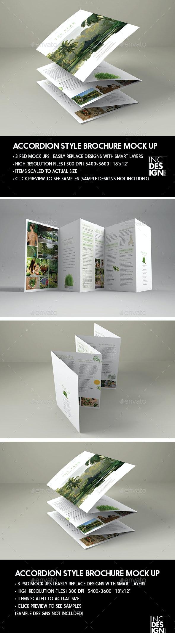 Elegant Accordion Style Brochure Mock Up - Brochures Print