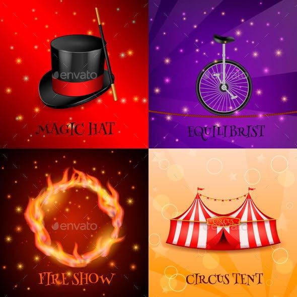 Circus Realistic Design Concept