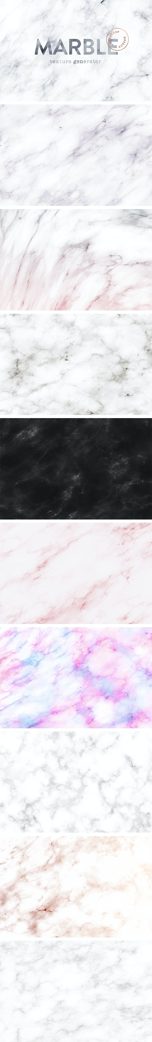 Marble Texture Generator Photoshop Action - Utilities Actions