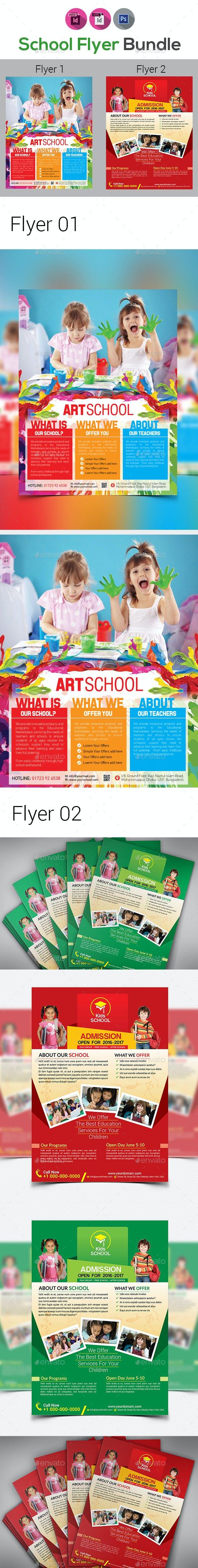 Kids School Flyers Bundle