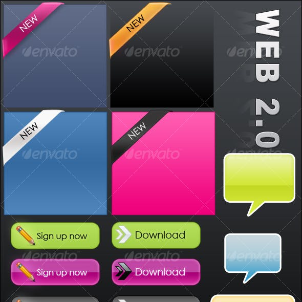 web2.0 Button (donwload and register now buttons)
