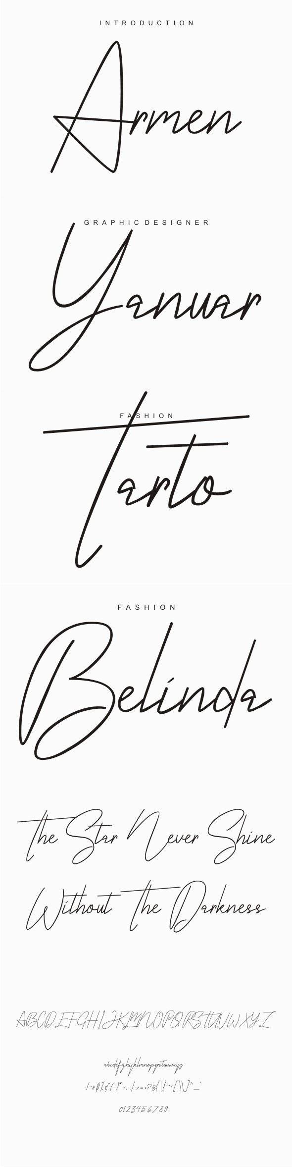 Armen Signature Typeface - Fonts
