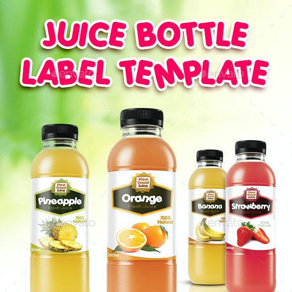 Juice Bottle Label Template