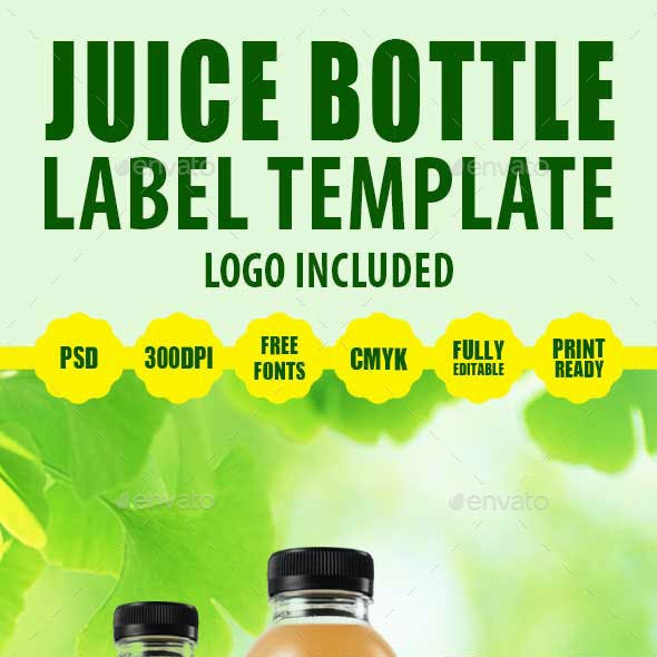 Juice Bottle Label Template V2