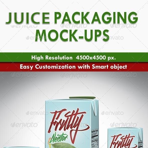 Juice Packaging Mock-ups