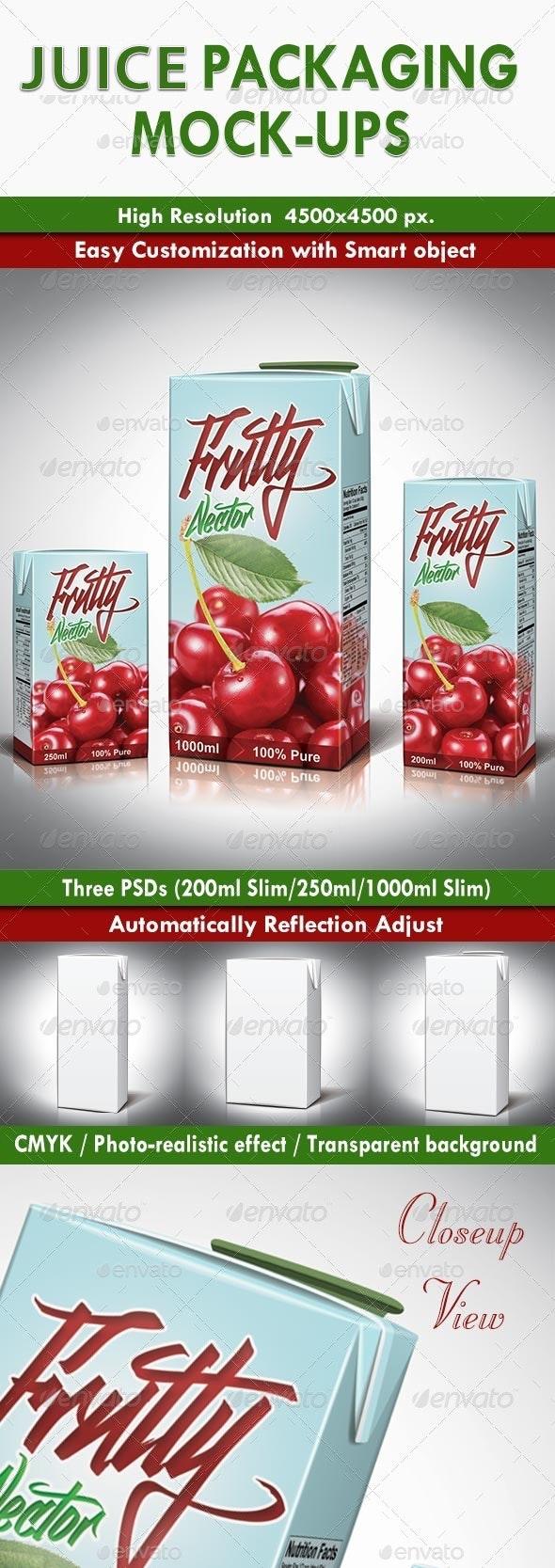 Juice Packaging Mock-ups - Food and Drink Packaging