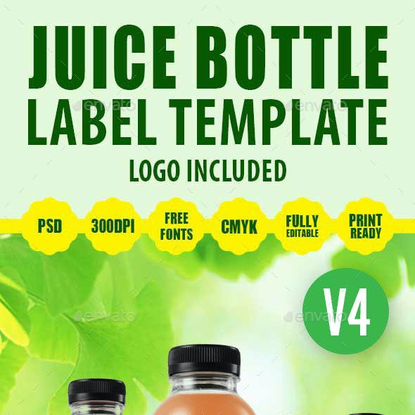 Juice Bottle Label Template V4