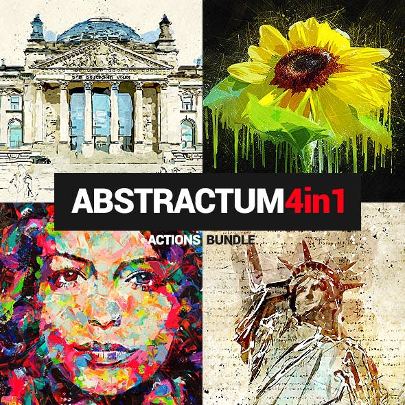 4in1 Bundle - Abstractum - Photoshop Actions