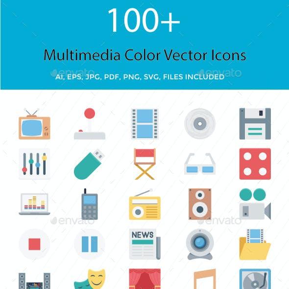 100+ Multimedia Color Vector Illustration