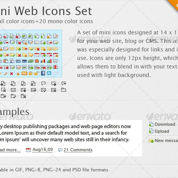 Mini Web Icons