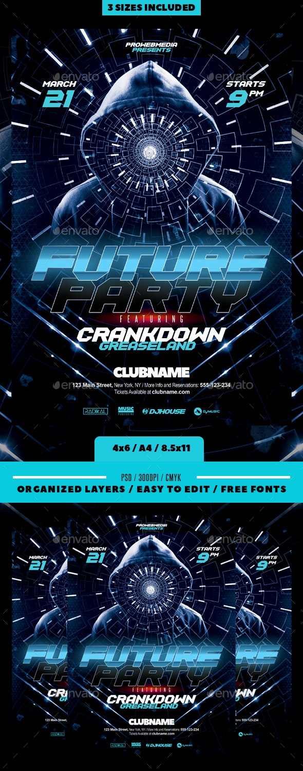 Futuristic Flyer - Clubs & Parties Events